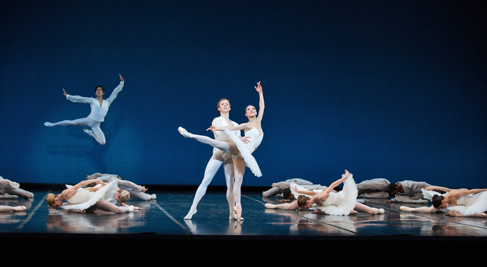Jeffrey Cirio, Isaac Akiba and Misa Kuranaga in Harold Lander's <I>Études</I>.<br />© Rosalie O'Connor. (Click image for larger version)