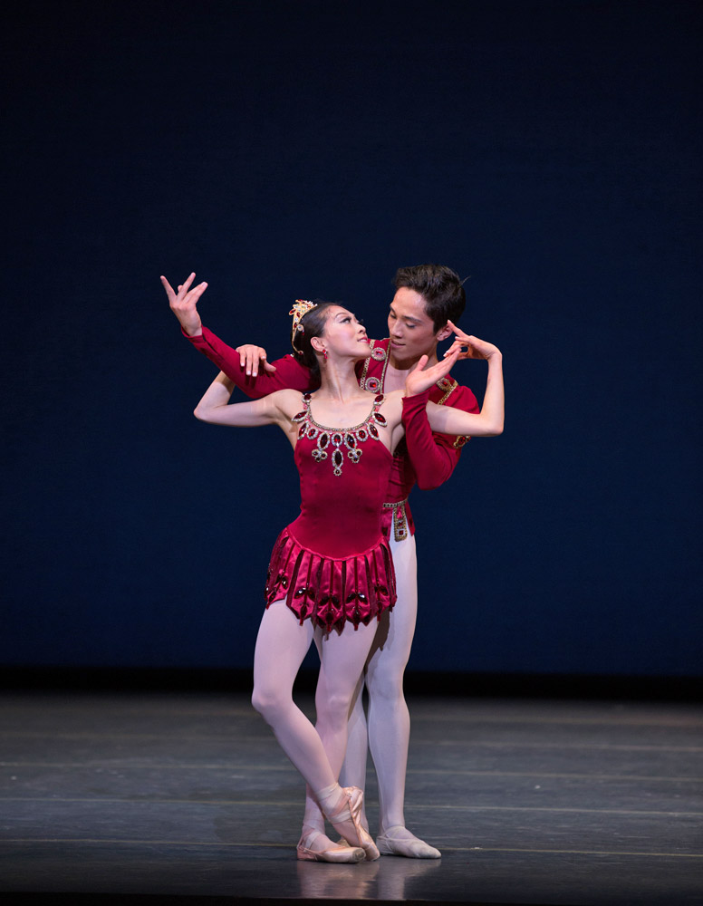 Misa Kuranaga and Jeffrey Cirio in <I>Rubies</I>, © The George Balanchine Trust.<br />© Rosalie O'Connor. (Click image for larger version
