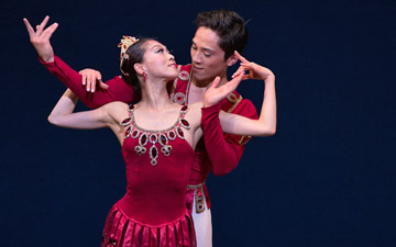 Misa Kuranaga and Jeffrey Cirio in Rubies, © The George Balanchine Trust.© Rosalie O'Connor. (Click image for larger version