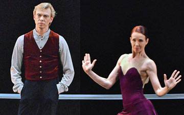 Vladimir Malakhov and Beatrice Knopp in Hans van Manen's The Old Man and Me.© Sergei Andreetsev. (Click image for larger version)