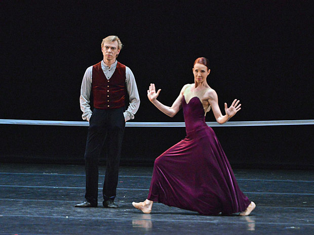 Vladimir Malakhov and Beatrice Knopp in Hans van Manen's <I>The Old Man and Me</I>.<br />© Sergei Andreetsev. (Click image for larger version)