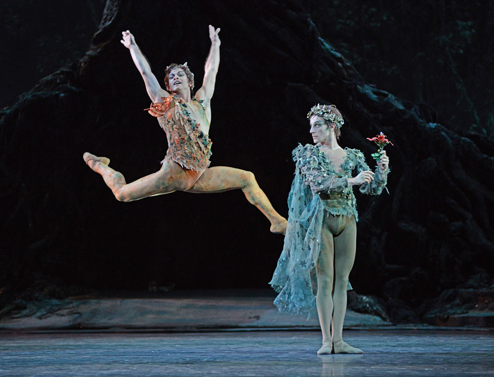 Paul Kay and Steven McRae in Frederick Ashton's The Dream.© Dave Morgan, courtesy the Royal Opera House. (Click image for larger version)