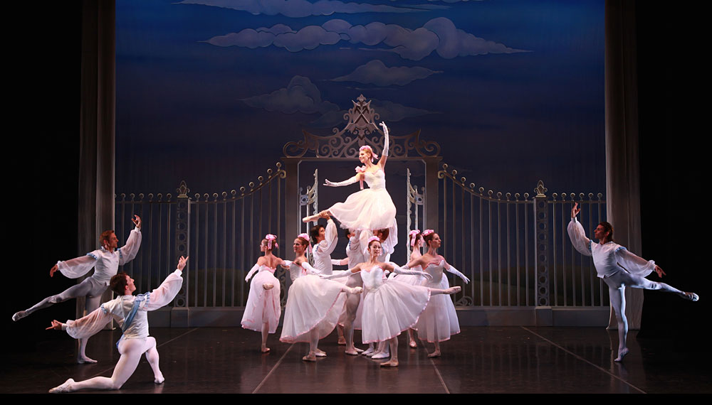 "Kate Honea and Sarasota Ballet in Frederick Ashton's <I>Les Rendezvous</I>.<br />From our May 2014 review of the <a href=""http://dancetabs.com/2014/05/sarasota-ballet-sir-frederick-ashton-festival-programmes-1-4-sarasota/"">Sarasota Ballet Sir Frederick Ashton Festival</a>.<br />© Frank Atura. (Click image for larger version)"