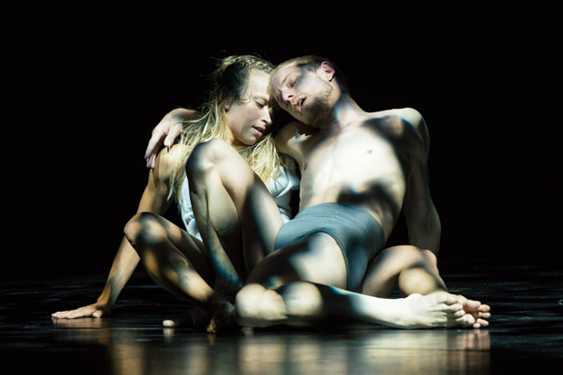 James O'Hara and Olivia Ancona in <I>Faun</I>.<br />© Foteini Christofilopoulou. (Click image for larger version)