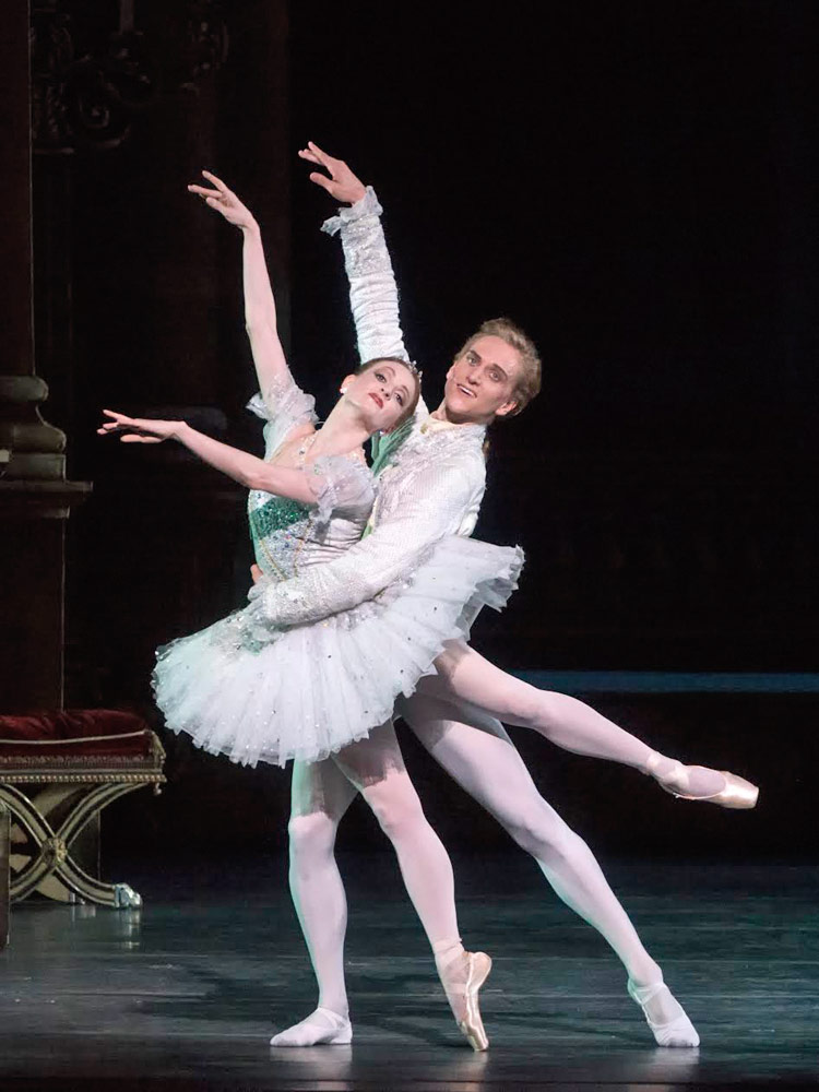 Gillian Murphy and David Hallberg in <I>Cinderella</I>.<br />© Gene Schiavone. (Click image for larger version)