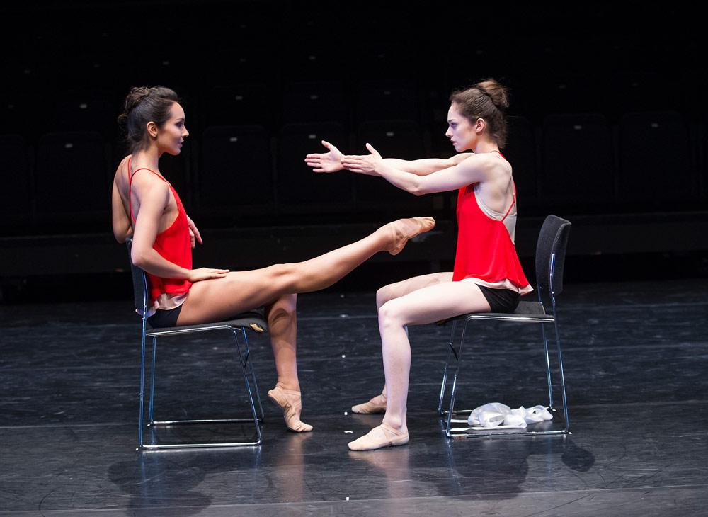 Tara-Brigitte Bhavani & Romany Pajdak in Ludovic Ondiviela's <I>Untitled</I>, Draft Works 2014.<br />© Tristram Kenton / ROH, 2014. (Click image for larger version)