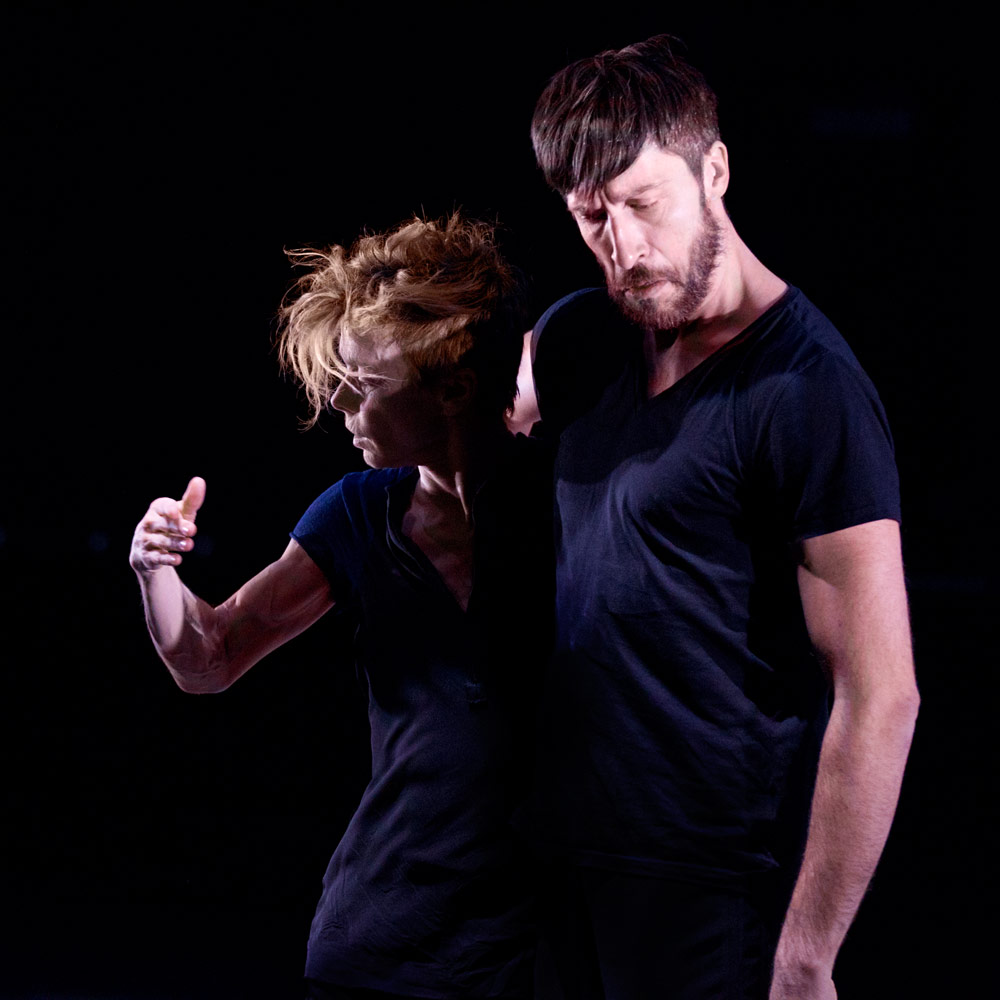 Louise Lecavalier and Frédéric Tavernini in <I>So Blue</I>.<br />© Andre Cornellier. (Click image for larger version)