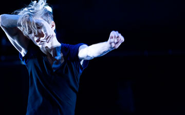 Louise Lecavalier in So Blue.© Andre Cornellier. (Click image for larger version)