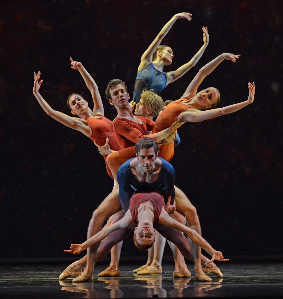 New English Ballet Theatre in Valentino Zucchetti's Orbital Motion.© Dave Morgan. (Click image for larger version)