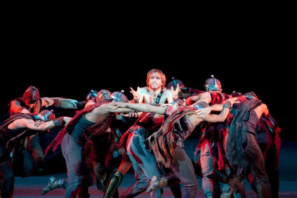 Mikhail Lobukhin in <I>Spartacus</I>.<br />© Elena Fetisova. (Click image for larger version)