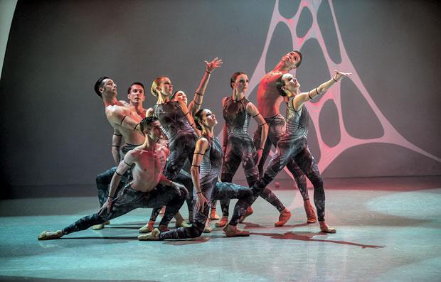Northern Ballet dancers in Kennth Tindall's <I>The Architect</I>.<br />© Emma Kauldhar. (Click image for larger version)