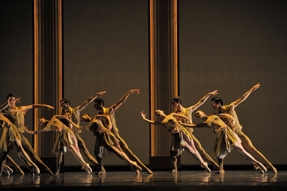 San Francisco Ballet in Helgi Tomasson's <I>Caprice</I>.<br />© Erik Tomasson. (Click image for larger version)