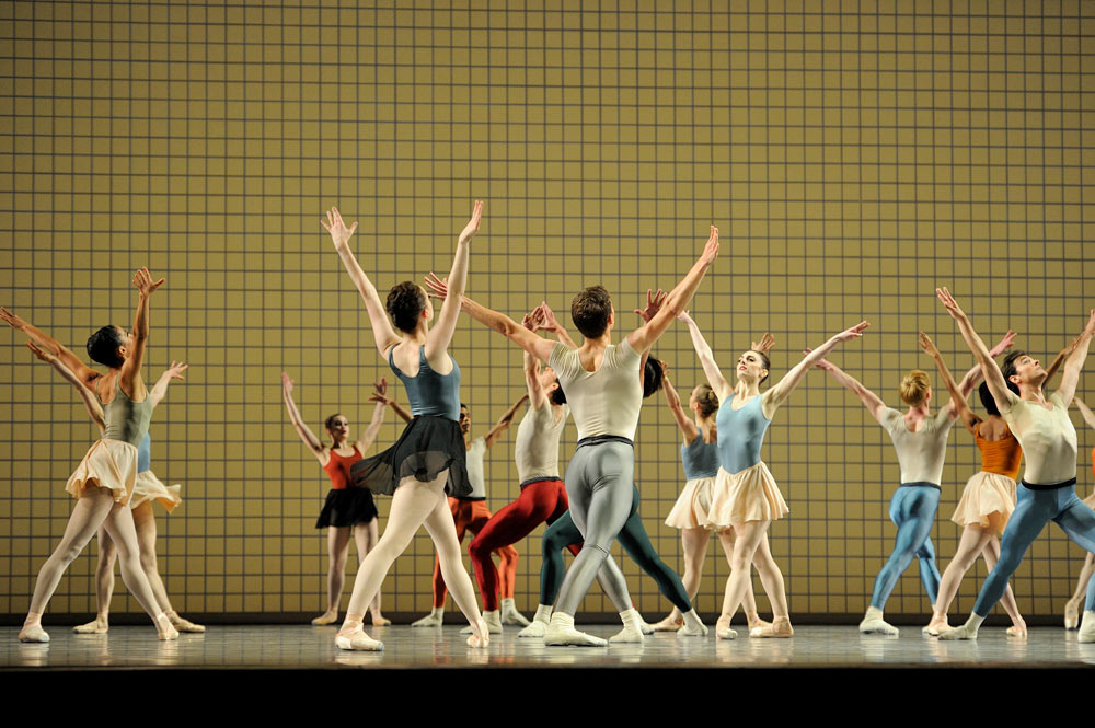 San Francisco Ballet in Jerome Robbins' Glass Pieces.© Erik Tomasson. (Click image for larger version)
