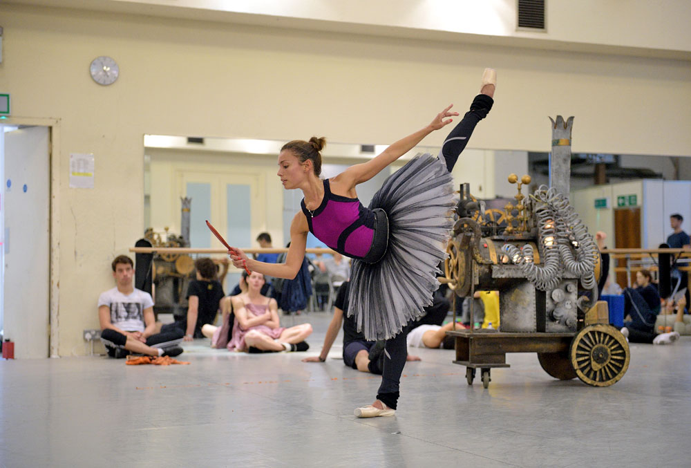 Fernanda Oliveira rehearsing Coppelia.© Laurent Liotardo, courtesy ENB. (Click image for larger version)
