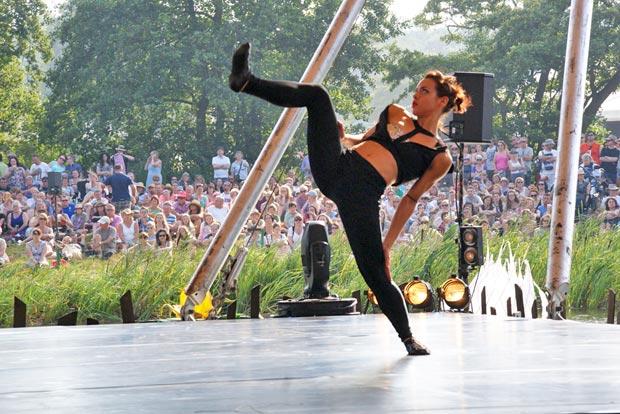Ballet Revolucion at Latitude Festival 2014.<br />© Lise Smith. (Click image for larger version)