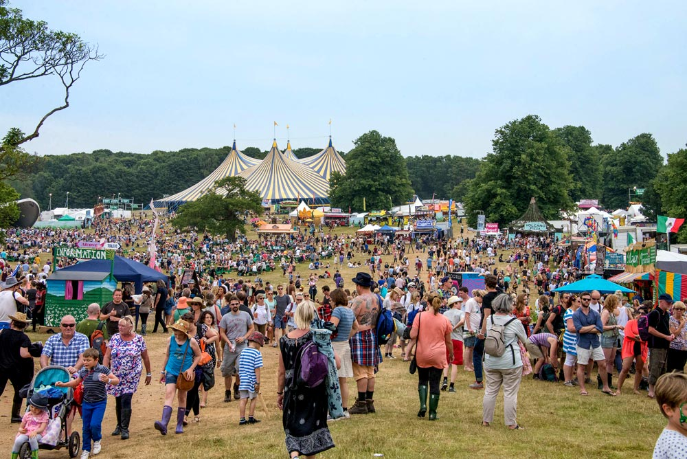 The Latitude festival site in full flow.© Lise Smith. (Click image for larger version)
