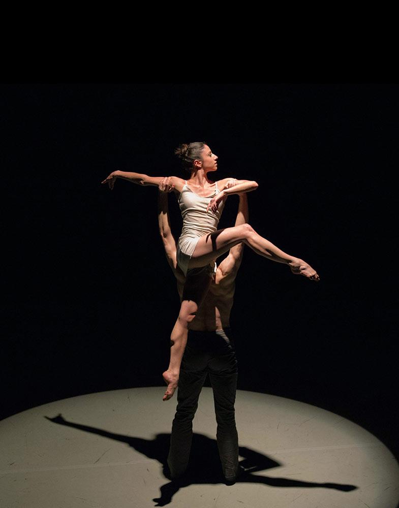 Scottish Ballet: <i>Jealousy</i>, choreography James Cousins, performed by Brenda Lee Grech & Lewis Landini (both Central alumni).<br />© Martin Bell. (Click image for larger version)