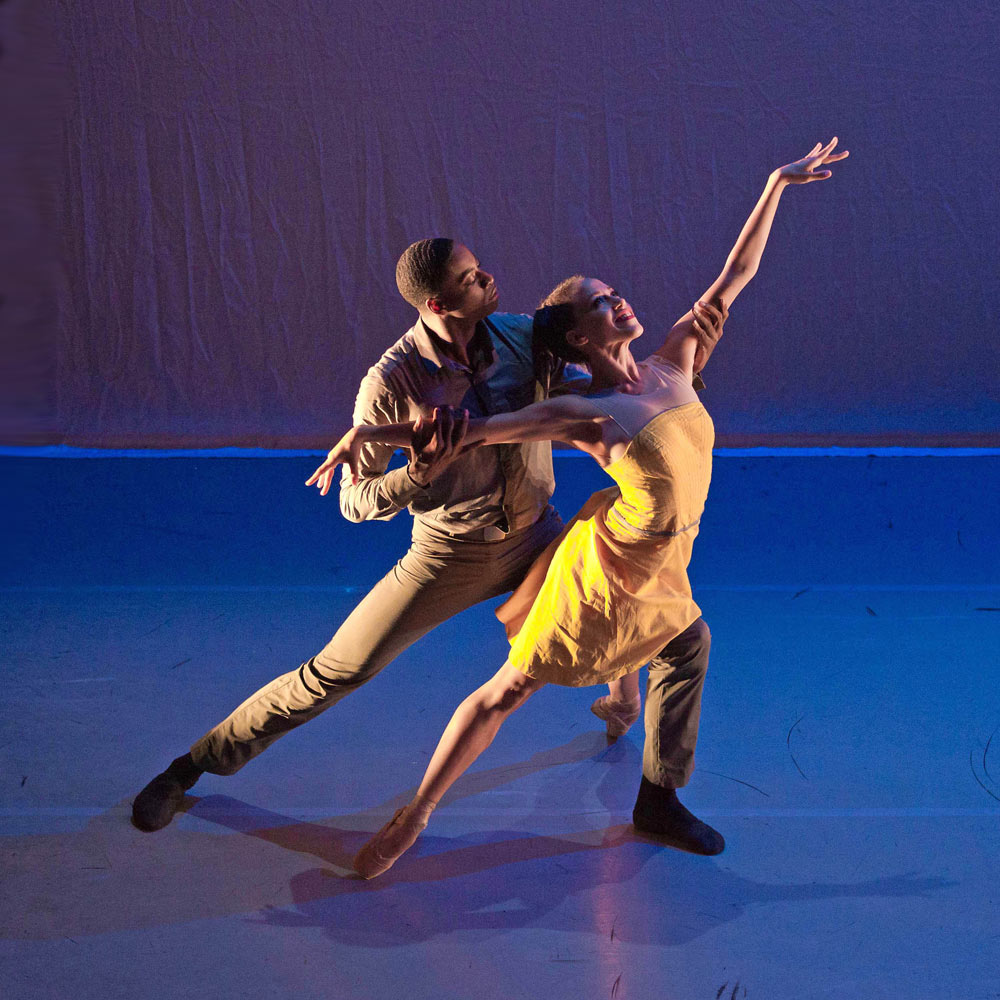 Ballet Black – <I>Two of a Kind</I>, choreography Christopher Marney (Central alumnus) performed by Kanika Carr (Central graduate) and Christopher Renfurm (not a Central Graduate).<br />© Martin Bell. (Click image for larger version)