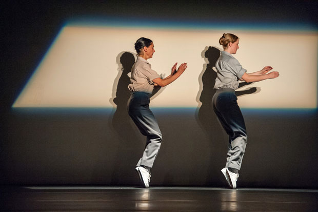 Anne Teresa De Keersmaeker and Tale Dolven in <I>Fase, Four Movements to the Music of Steve Reich</I>.<br />© Stephanie Berger. (Click image for larger version)