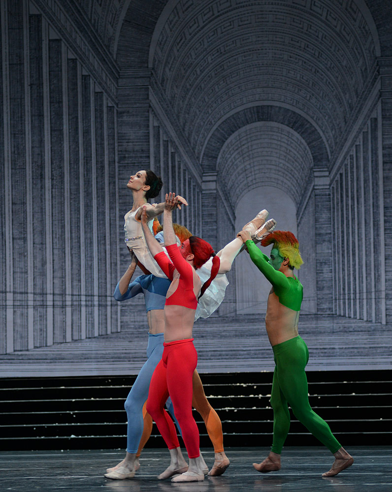 Diana Vishneva and the 4 seasons in Cinderella.© Dave Morgan. (Click image for larger version)