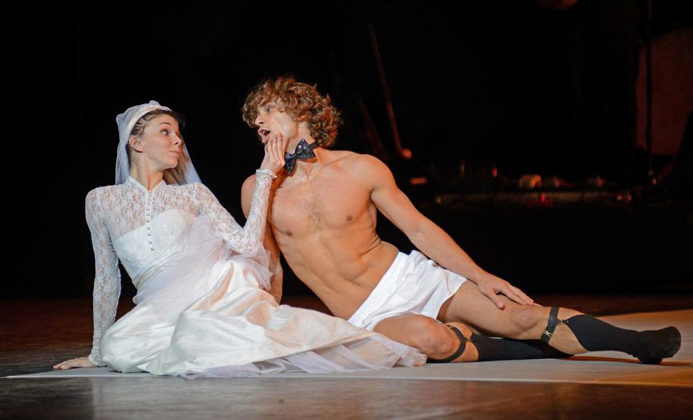 Natalia Osipova and Ivan Vasiliev in Arthur Pita's <I>Facada</I>.<br />© Dave Morgan. (Click image for larger version)