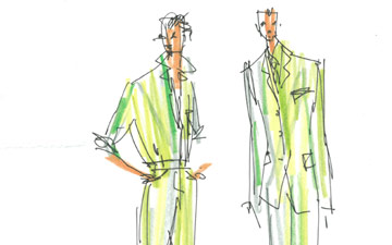 Isaac Mizrahi designs for Acis and Galatea.© Isaac Mizrahi. (Click image for larger version)