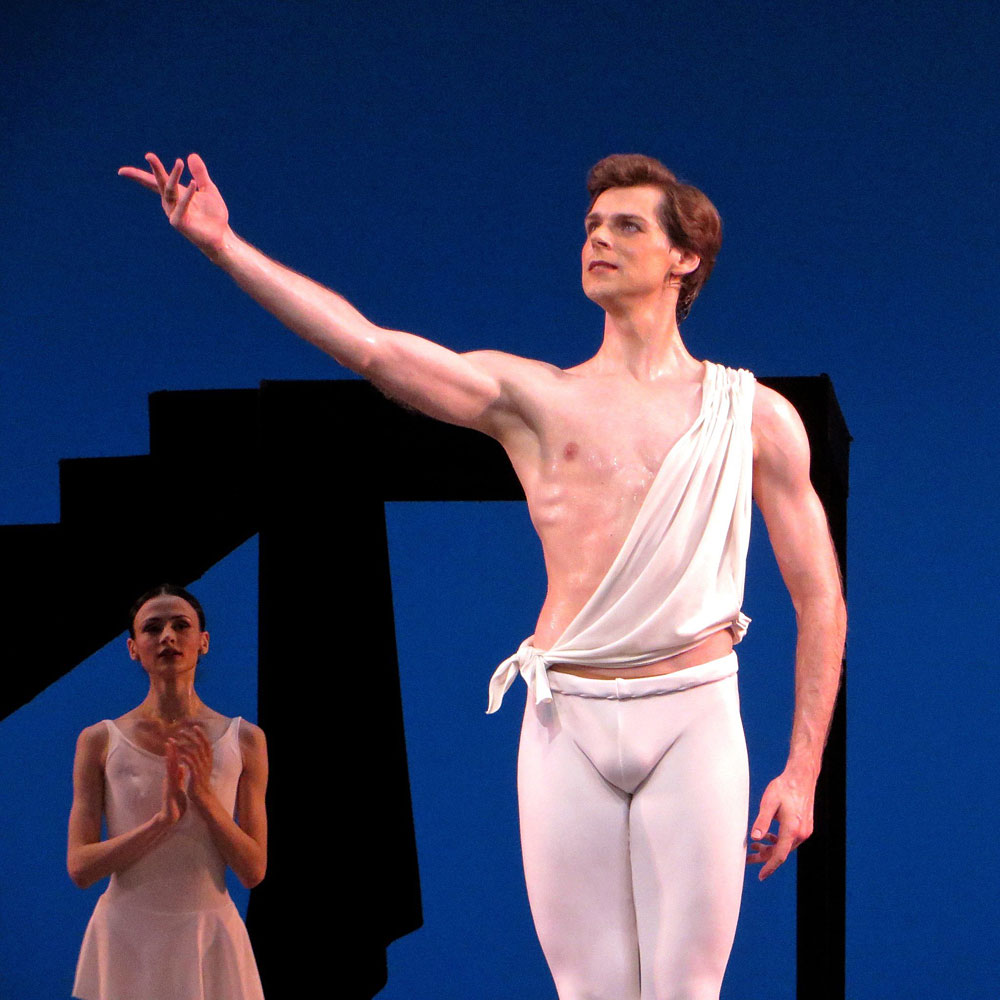 "Vladimir Shklyarov after dancing the title role in <I>Apollo</I>.<br />© Leena Hassan (<a href=""http://twitter.com/leenahassan"">@leenahassan</a>). (Click image for larger version)"