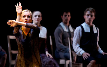 Eve Mutso as Elizabeth Proctor in Helen Pickett's The Crucible.© Andy Ross. (Click image for larger version)