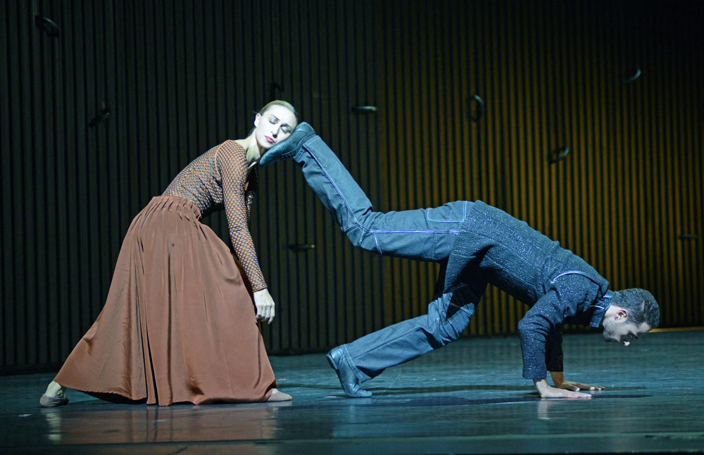 Marie Lindqvist and Arsen Mehrabyan (Mother, Father) in Mats Ek's <I>Juliet and Romeo</I>.<br />© Dave Morgan. (Click image for larger version)