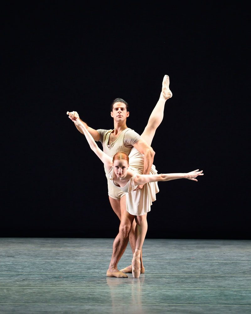 Gillian Murphy and Marcelo Gomes in <I>Bach Partita</I>.<br />© Gene Schiavone. (Click image for larger version)