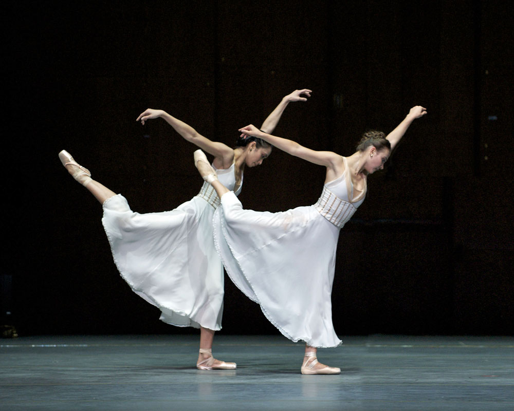 Stella Abrera and Christine Shevchenko in <I>Seven Sonatas </I>.<br />© Gene Schiavone. (Click image for larger version)