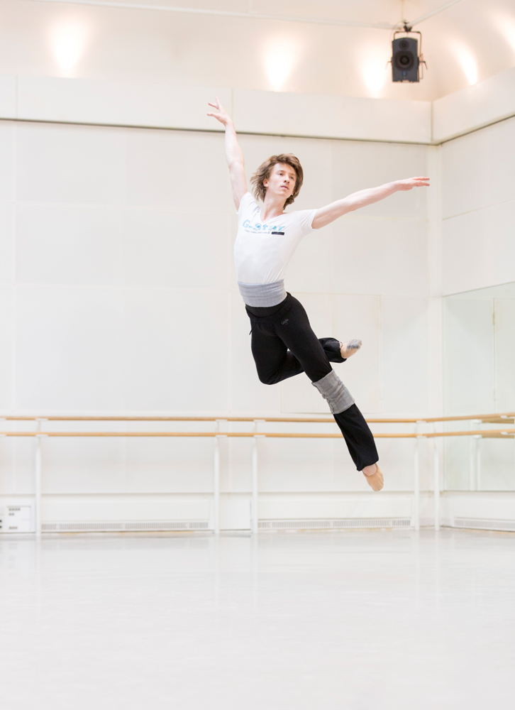 Royal Ballet Principal Vadim Muntagirov in rehearsal.<br />© ROH / Johan Persson, 2014. (Click image for larger version)