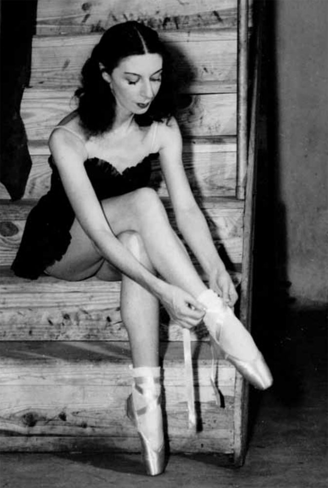 While working for New York's Ballet Theatre, Markova lived in toe shoes, rehearsing new ballets every day and performing nearly every night.<br />Picture courtesy Pegasus Books, Markova Archive, Boston University Howard Gotlieb Archival Research Center (©)