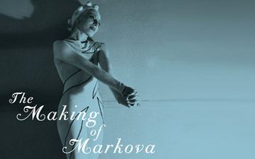 The Making of Markova: Diaghilev's Baby Ballerina to Groundbreaking Icon, book cover.© Pegasus Books. (Click image for larger version)