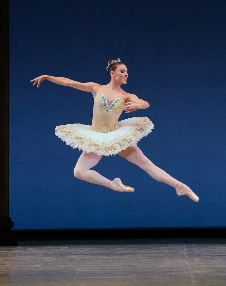 Tiler Peck in Theme and Variations.© Paul Kolnik. (Click image for larger version)
