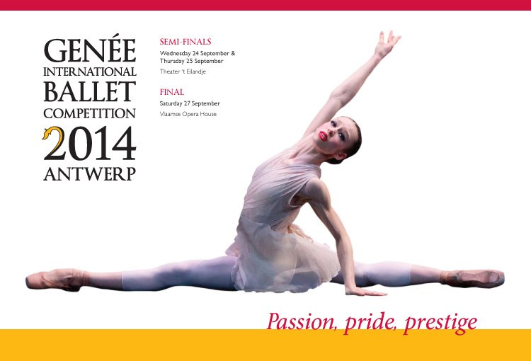 Poster for Genée International Ballet Competition.© Royal Academy of Dance . (Click image for larger version)