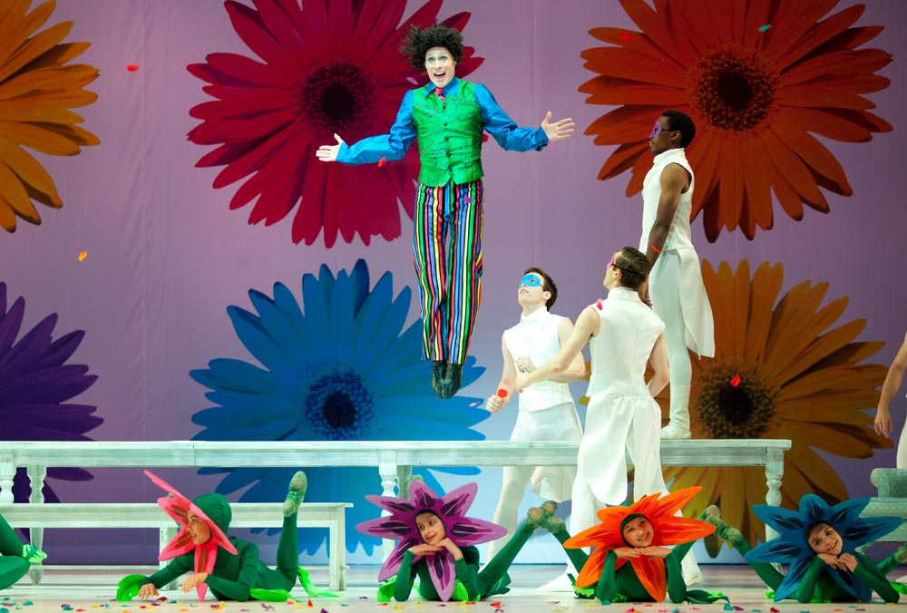 Jared Nelson (The Mad Hatter) in Washington Ballet's ALICE (in wonderland).© Brianne Bland. (Click image for larger version)