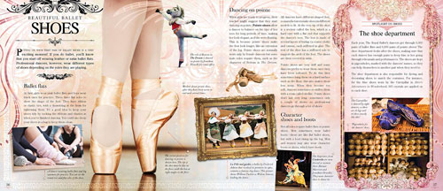 A typical double page presentation in Ballet Spectacular.© Carlton Kids, The Royal Ballet and respective photographers. (Click image for larger version)