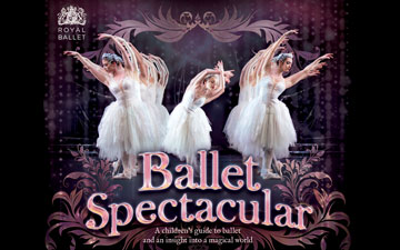 Ballet Spectacular book cover.© Carlton Kids, The Royal Ballet and respective photographers. (Click image for larger version)