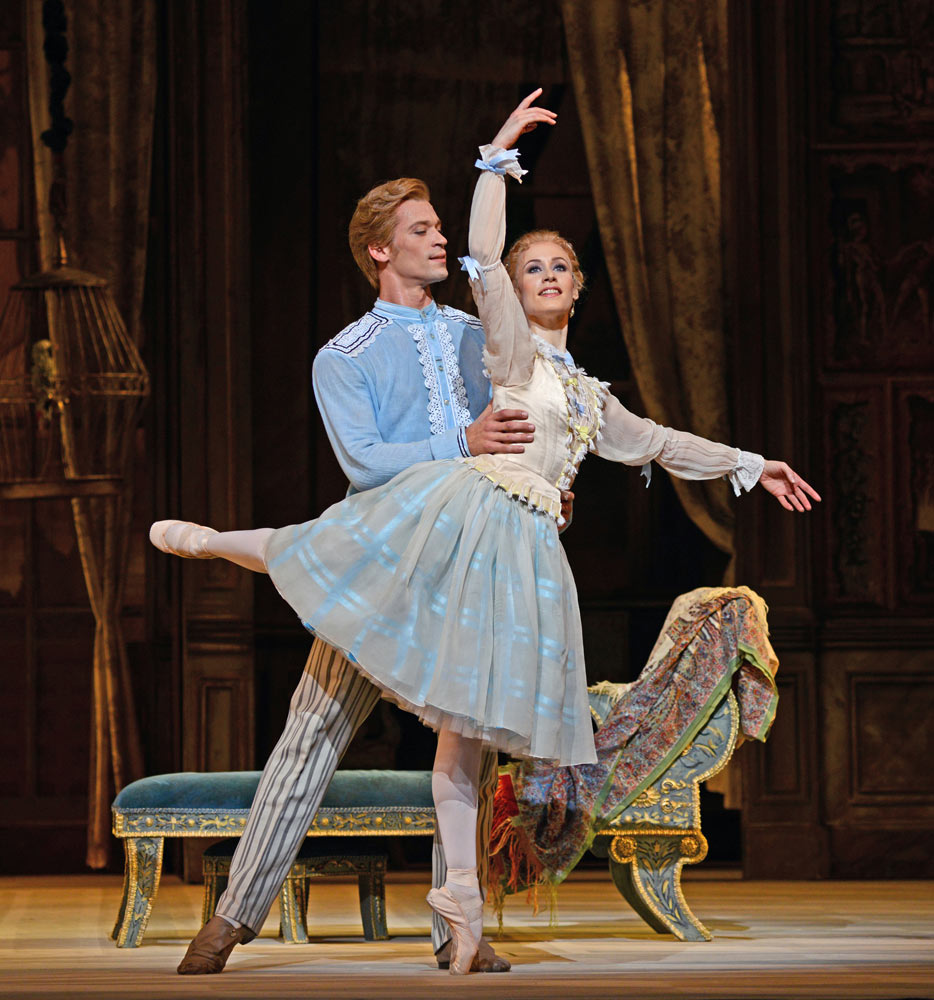 Rupert Pennefather and Emma Maguire in A Month in the Country.© Dave Morgan, courtesy the Royal Opera House. (Click image for larger version)