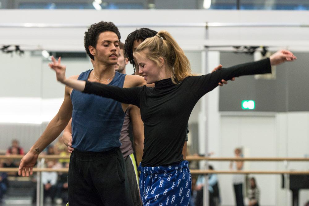 Hannah Rudd and Dane Hurst rehearsing Terra Incognita.© Foteini Christofilopoulou. (Click image for larger version)