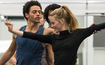 Hannah Rudd and Dane Hurst rehearsing Terra Incognita.© Foteini Christofilopoulou. (Click image for larger version)