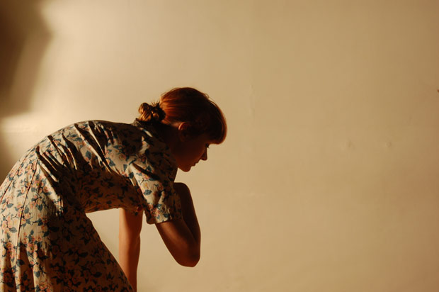 Kirsty Arnold (LCDS alumna) in Joanna Young's <I>Army of Me</I>.<br />© Iain Payne. (Click image for larger version)