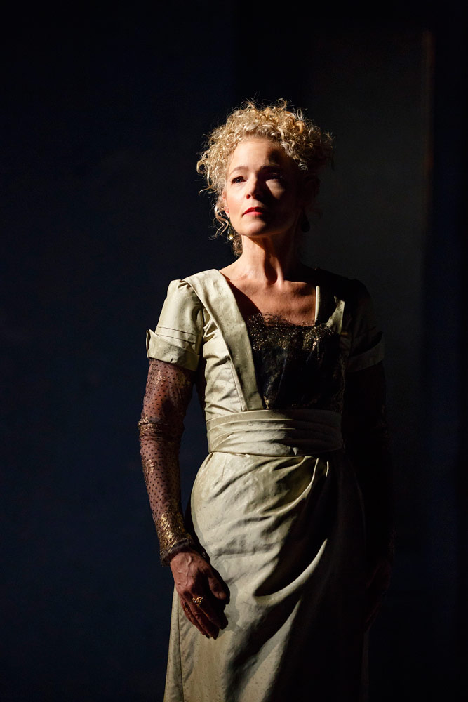 Amy Irving as the mother in Martha Clarke's <I>Cheri</I>.<br />© Joan Marcus. (Click image for larger version)