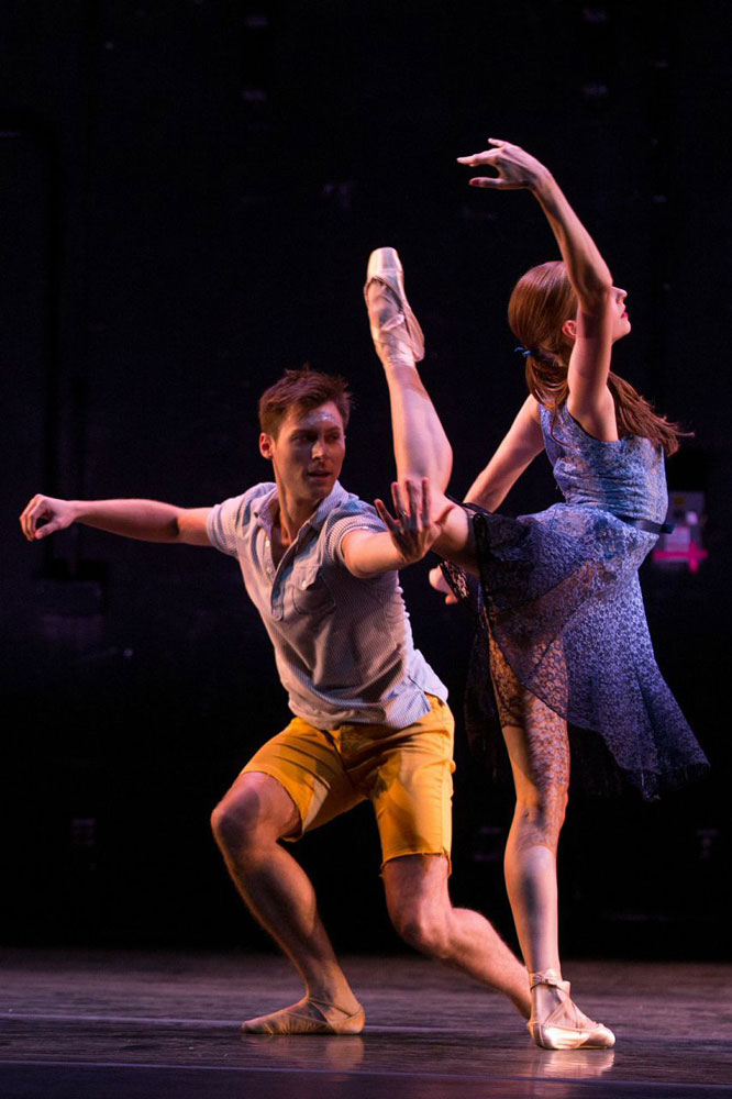 Troy Schumacher and Ashley Laracey in <I>Dear and Blackbirds</I>.<br />© Matthew Murphy. (Click image for larger version)