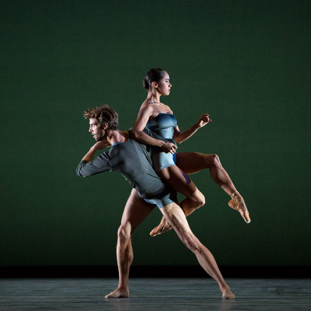 Misty Copeland and James Whiteside in Liam Scarlett's <I>With a Chance of Rain</I>.<br />© Marty Sohl. (Click image for larger version)