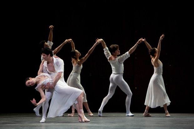 Xiomara Reyes and Herman Cornejo in Alexei Ratmansky's <I>Seven Sonatas.</I>.<br />© Rosalie O'Connor. (Click image for larger version)