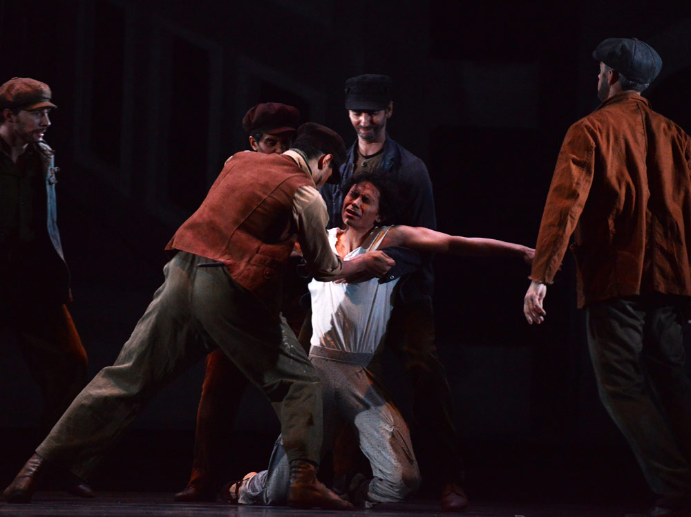 Cesar Morales as the Stranger in Miracle in the Gorbals.© Roy Smiljanic. (Click image for larger version)