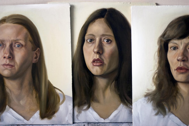 Publicity image for Margret Sara Guojonsdottir's <I>Variations on Closer </I>.<br />© Tom Akinleminu, painting by Marion Bataillard.. (Click image for larger version)