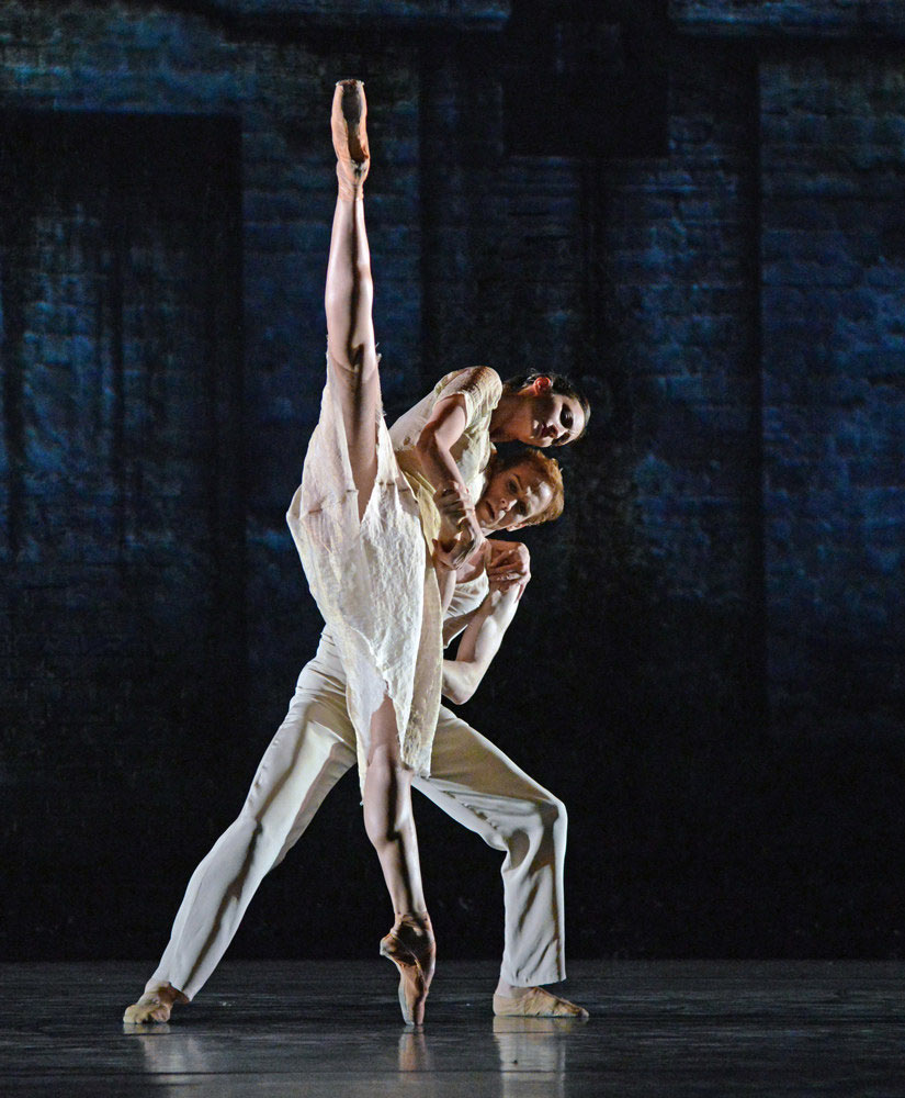 Christina Arestis and Edward Watson in Kim Brandstrup's Ceremony of Innocence.© Dave Morgan, courtesy the Royal Opera House. (Click image for larger version)
